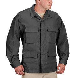 Propper® F5454-38 BDU Tactical Uniform Coat Jacket, Battle Rip® 65% Polyester and 35% Cotton ripstop, Four front cargo pockets, available in black, grey, dark grey, khaki, and dark navy