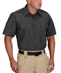 Propper® F5301, Tactical Short Sleeve Button-Down Uniform Shirt, 2 Chest Pockets, Badge Tab, Polyester/Cotton