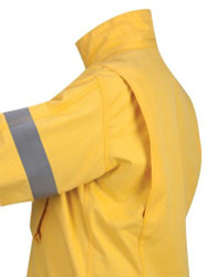 Propper®  F53072L700 Wildland, Tactical Long Sleeve Over-Shirt Uniform Jacket, Adjustable Cuffs, Flame Resistant, 2 Chest Pockets, Mic Loop, Yellow