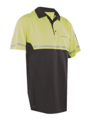 Tru-Spec 4550 24-7 Series, Men's Short Sleeve Uniform Reflective Tactical Bike Polo, Polyester, available in Blue or Yellow