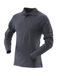 Tru-Spec 4451 24-7 Series®, Men's Long Sleeve Classic, Casual/Uniform, Cotton Tactical Polo, available in Black and Navy, Sternum and Shoulder Mic Loop