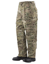 Tru-Spec 1113 Army Combat Uniform Tactical MultiCam Pants, 50/50 CORDURA® Nylon/Cotton Rip-Stop, Relaxed Fit, Drawstring Leg Ties, Two easy access slanted cargo pockets with drain holes and button closure