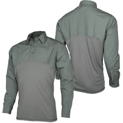 Tru-Spec TS-2517 T.R.U.® Defender Long Sleeve Tactical Polo Uniform or Casual Shirt, Polyester/Cotton, No-Curl Collar, Button Cuffs, Epaulet and Badge Kits Included, available in Black, Olive Drab Green, and Navy