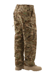 Tru-Spec Tactical Response Uniform Pants, 50% Nylon and 50% Cotton Rip-Stop, Two easy access slanted cargo pockets with drain holes, Improved heavy drawstring leg ties, 1263