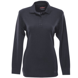 Tru-Spec 24-7 Series® Women's Long Sleeve Classic 100% Cotton Tactical Polo, available in Black and Navy, mic/sunglasses loop, 4474