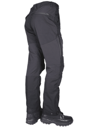 Tru-Spec 24-7 SERIES® Men's 24-7 Xpedition® Tactical Pants, polyester cotton rip-stop fabric with a DWR water repellent coating and double weave 91% nylon, 9% Spandex® accents, Strap adjustment with snaps on ankle cuffs and boot hooks, 1429