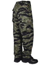 Tru-Spec 1593 Men's BDU Uniform Tactical Pants, Cargo, Relaxed Fit, 100% Cotton Rip-Stop, Nylon drawstring leg ties