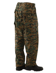 Tru-Spec TS-1932 Vat Print Digital Tactical Pants, Polyester/Cotton Twill, Four button fly closure, Reinforced knee patches with interior pockets for additional padding, with Pattern Option
