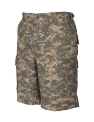 Tru-Spec BDU Tactical Shorts, 100% Cotton Rip-Stop, Easy access DropN pockets behind each cargo pocket, YKK® zipper fly, Two bellowed three pleated cargo pockets with drain holes and snag proof and fused button flaps, 4257