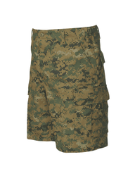 Tru-Spec BDU Tactical Shorts, 65% Polyester and 35% Cotton Twill, Easy access DropN pockets behind each cargo pocket, YKK® zipper fly, Two bellowed three pleated cargo pockets with drain holes and snag proof and fused button flaps, 4275
