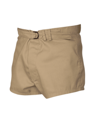 Tru-Spec 4224 UDT Tactical Shorts, Cotton/Polyester Twill, Adjustable front poll strap with anodized brass O-ring, Single back patch pocket, Button fly, tan