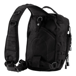 Tru-Spec 4918 Tactical Trek Sling Pack, 1050D Nylon, Padded adjustable sling strap with front facing D-rings for adding accessories, Belt loop to keep pack secure to body, black, coyote brown and grey