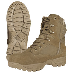 Tru-Spec 4059 Men's TAC Assault 9 inch Uniform/Casual Tactical Boots with Side-Zip, breathable and anti-bacterial, available in Coyote/Tan Brown and Black, Regular Width
