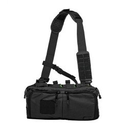 5.11 Tactical 4-BANGER BAG, Sturdy, Resilient 500D nylon construction, Carries four 5.56 magazines and tactical gear, Molded grip pulls on storage zippers, 56181