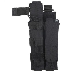 5.11 Tactical DOUBLE MP5 BUNGEE/COVER, N500D body/ N1050D base, Stacking design for modular expansion, Non-slip grips on cover tabs, Seams and seals heat treated for durability, 56161