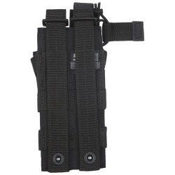 5.11 Tactical 56161 DOUBLE MP5 BUNGEE/COVER, N500D body/ N1050D base, Stacking design for modular expansion, Non-slip grips on cover tabs, Seams and seals heat treated for durability, Black
