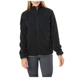 5.11 Tactical WOMEN'S APOLLO TECH FLEECE, 100% Polyester Micro Fleece Body, Elastic binding at top edge of collar, sleeve openings, and bottom hem opening, Left and right chest ready pockets, 38078