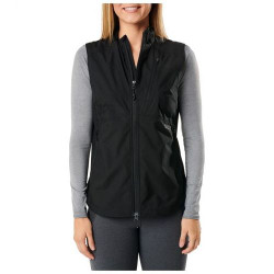 5.11 Tactical 65001 WOMEN'S CASCADIA WINDBREAKER PACKABLE VEST, 100% Polyester Lightweight Fabric w/DWR Finish, Center Back Elastic-Cinched Waist