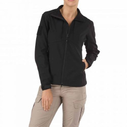 5.11 Tactical 38068 WOMENS SIERRA SOFTSHELL Jacket, 100% Polyester stretch fabric outer, Polyester micro-fleece inner, 2 Chest Pockets, Lined hand-warmer pockets