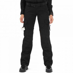 5.11 Tactical 64301 Women's EMS Uniform Cargo Pants, Classic/Straight Fit, Knee Pad Pocket, Polyester/Cotton, Available in Black and Dark Navy Blue