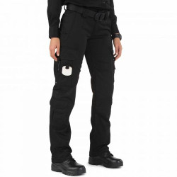 5.11 Tactical 64369 Women's TacLite EMS Uniform Pants, Polyester/Cotton, Adjustable Waist, Knee Pad Pockets, Cargo Pockets, Lightweight and Durable, available in Black, or Dark Navy