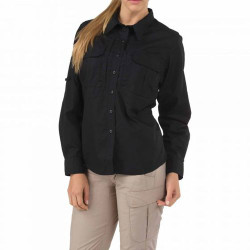 5.11 Tactical WOMEN'S TACLITE® PRO LONG SLEEVE SHIRT, lightweight, durable tactical shirt, and highly functional, Pleated patch pockets with hook-and-loop closure, 62070
