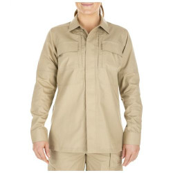 5.11 Tactical 62016 WOMEN'S TACLITE® TDU® LONG SLEEVE UNIFORM BUTTON-DOWN SHIRT, 2 Chest Pockets, Tough Melamine Buttons, Badge Tab and Epaulette Kit Included