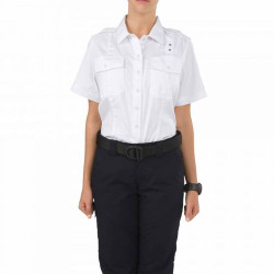 5.11 Tactical 61158WMN WOMEN'S TWILL PDU® CLASS-A SHORT SLEEVE UNIFORM BUTTON-DOWN SHIRT, 2 Chest Pockets, Polyester/Cotton Ripstop Twill, Epaulette Kit Included