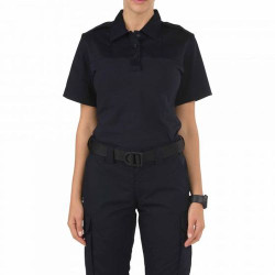 5.11 Tactical 61304750 WOMEN'S RAPID PDU® SHORT SLEEVE SHIRT, Casual/Uniform, Cotton/Polyester/Spandex, Dual-fabric construction for durability and movement, Moisture-wicking and quick-dry for comfort, Midnight Navy