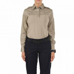 5.11 Tactical 62372 WOMEN'S RAPID PDU® LONG SLEEVE SHIRT, Cotton /Polyester /Spandex body, Casual/Uniform, twill shoulders and sleeves, Moisture-wicking and quick-dry for comfort