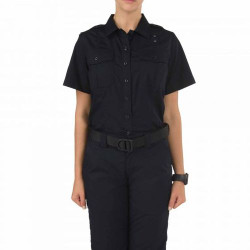 5.11 Tactical 61167 WOMEN'S TACLITE® PDU® CLASS A SHORT SLEEVE UNIFORM BUTTON-DOWN SHIRT, 2 Chest Pockets, Badge Tab, Mic Loop, Teflon Fabric, available in Midnight Navy Blue and Spruce Green