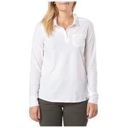 5.11 Tactical WOMEN'S ENYO TOP, Sewn down epaulettes, Chest pocket, 59% Pima cotton, 33% polyester, 8% spandex body with 100% polyester with mechanical stretch accents, 62027