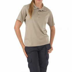 5.11 Tactical 61165 WOMEN'S PERFORMANCE SHORT SLEEVE POLO, Polyester, Shoulder Mic Loop, Sternum Mic Loop
