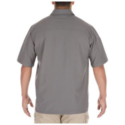 5.11 Tactical 71340 Freedom Flex Button-Down Casual Short Sleeve Shirt with 2 Chest Pockets, 100% Polyester, available in Black or Storm Gray