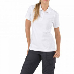 5.11 Tactical WOMEN'S TACTICAL JERSEY SHORT SLEEVE POLO, 100% cotton jersey knit fabric, Pen pocket at the sleeve, Mic loops at the shoulders and chest, Fade, shrink, and wrinkle-resistant fabric,  61164