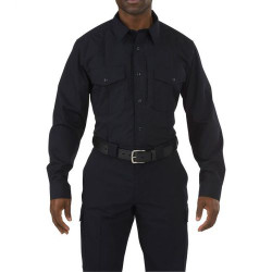 5.11 Tactical Stryke PDU Class-B Long Sleeve, Button-Down Shirt, Uniform Shirt With Badge Tab, available in Black, or Midnight Navy 72074