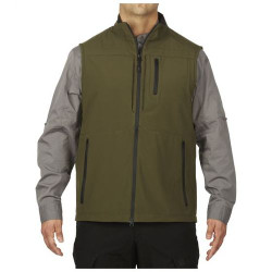 5.11 Tactical MEN'S COVERT VEST, 100% Polyester bonded softshell, Water and wind resistant, Ready Pocket™ on chest for storing documents or a phone, 80016