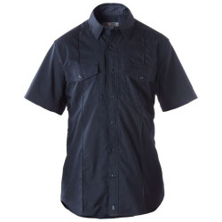 5.11 Tactical 71038 Stryke PDU Class B Short Sleeve Button-Down Uniform Shirt, 2 Chest Pockets, Badge Tab, Mic Loop, Flex-Tac Fabric, available in Black, or Midnight Navy
