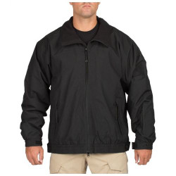 5.11 Tactical MEN'S BIG HORN JACKET, All-weather microfiber shell, Water and Wind Resistant, Warm fleece lining, Elasticized waist, Hook and loop cuffs, 48026