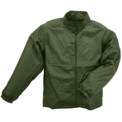 5.11 Tactical 48035 PACKABLE JACKET, Lightweight, durable polyester, Warm, comfortable, wind resistant, Folds quickly into its own compact pouch, Stows easily in a truck, bag, or locker, available in Black, Dark Navy Blue, and Sheriff Green