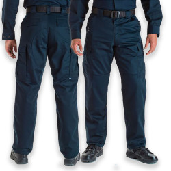 5.11 Tactical 74004 Men's Twill TDU Uniform Pants, Polyester/Cotton, Adjustable Waist, Cargo Pockets, available in Black, TDU Green, or Dark Navy