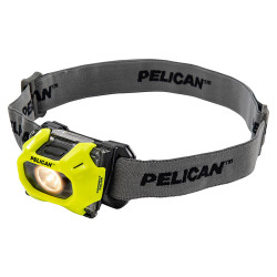 Pelican LED Headlamp, With 2 Modes High / Low, 72 Lumens, 72 Lumens, High Visibility Yellow 2755CC