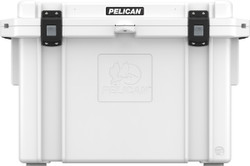 Pelican 95QT Elite Cooler Cooler with Integrated Fish Scale on Lid, and Integrated Cup Holders, Available in Tan or White, 39x21x26, 63 lbs (95QT)