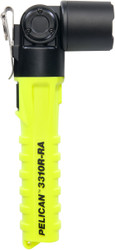 Pelican Right Angle LED Light, With Lanyard, 4 modes: Boost / High / Low / Flashing, 948 Lumens, Lithium Ion Rechargeable Battery, High Visibility Yellow 3310R-RA