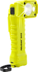 Pelican Right Angle LED Light, With 2 modes: spot and flashing, High Visibility Yellow 3415