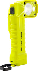 Pelican Right Angle LED Light, With 2 modes: spot and flashing,  High Visibility Yellow 3415M