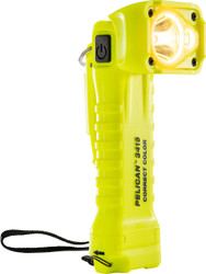 Pelican Right Angle LED Light, With 3 modes: Spot, Flood or Both, 258 Lumens, High Visibility Yellow 3415MCC