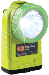 Pelican Right Angle LED Light, With 4 mode battery level indicating button, High Visibility Yellow 3715PL