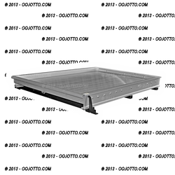 """Jotto-Cargo Slide 410-9040, Truck-Bed Cargo Slide fits Chevy Crew Cab with 5.75' Bed, Light Duty, Aluminum, with optional AlumaPlank Flooring system, 65"""" x 49"""""""