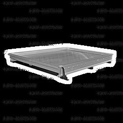 "Jotto-Cargo Slide 410-9800, fits Suburban SUV (2008-2014), Light Duty, Aluminum, includes AlumaPlank Flooring system, 63""x46"""